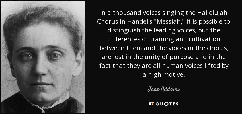 In a thousand voices singing the Hallelujah Chorus in Handel's