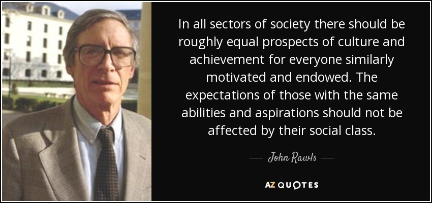 john rawls political theory postulates society to make just decisions A theory of justice by john rawls occur in order to have a just society rawls's belief of what justice should theory of justice john rawls presents his.