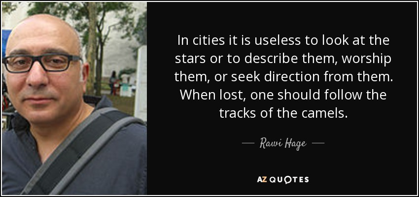 Rawi Hage Quote In Cities It Is Useless To Look At The Stars