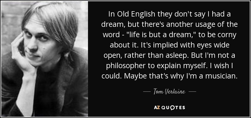 In Old English they don't say I had a dream, but there's another usage of the word -