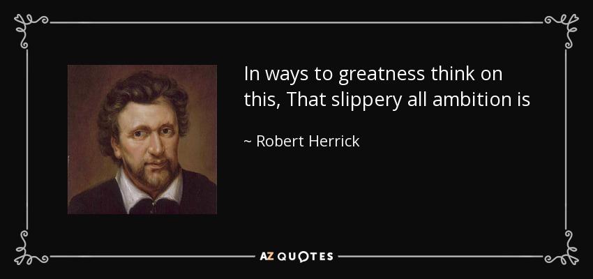 Robert Herrick ambition