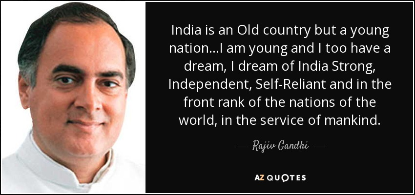 Top 12 Quotes By Rajiv Gandhi A Z Quotes