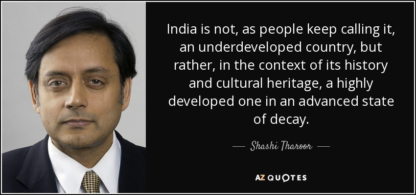 Image result for shashi tharoor quotes
