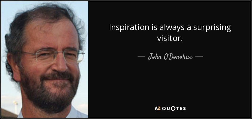 Inspiration is always a surprising visitor. - John O'Donohue