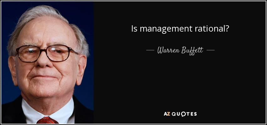 Is management rational? - Warren Buffett