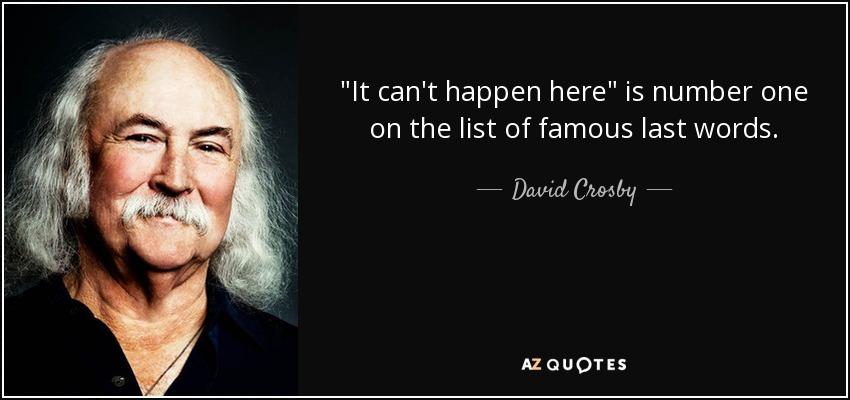 David Crosby quote: