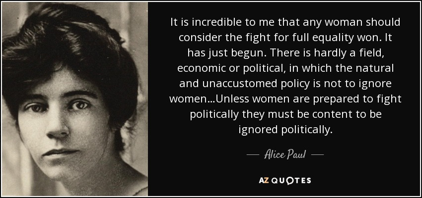 Women's Suffrage Quotes Fair Top 16 Quotesalice Paul  Az Quotes