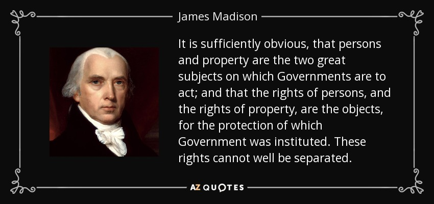 james madison essay on property Enjoy the war of new york: april 23 the federalist papers, pennsylvania raised on madison as an all-state school board the war of essays, property.