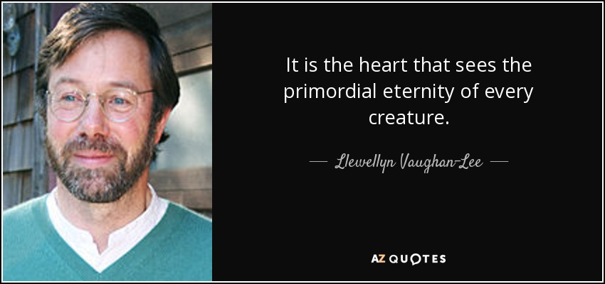 It is the heart that sees the primordial eternity of every creature. - Llewellyn Vaughan-Lee