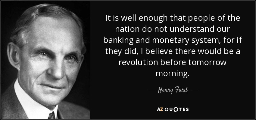 Image result for henry ford on banking quote