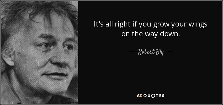 It's all right if you grow your wings on the way down. - Robert Bly