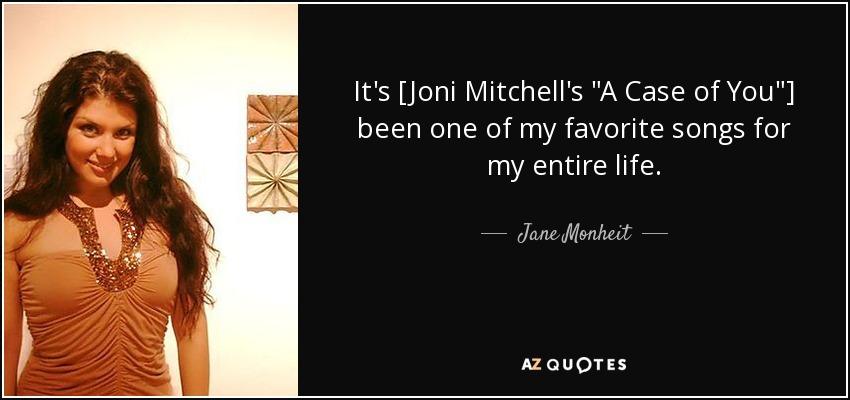 It's [Joni Mitchell's