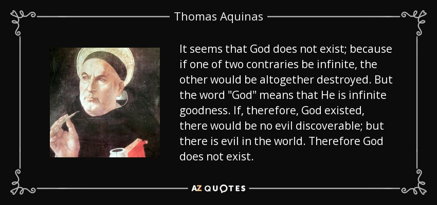 thomas aquinas essay Thomas aquinas' philosophy essays examine thomas aquinas' philosophy, which was one of the leading intellectual forces in european that still.