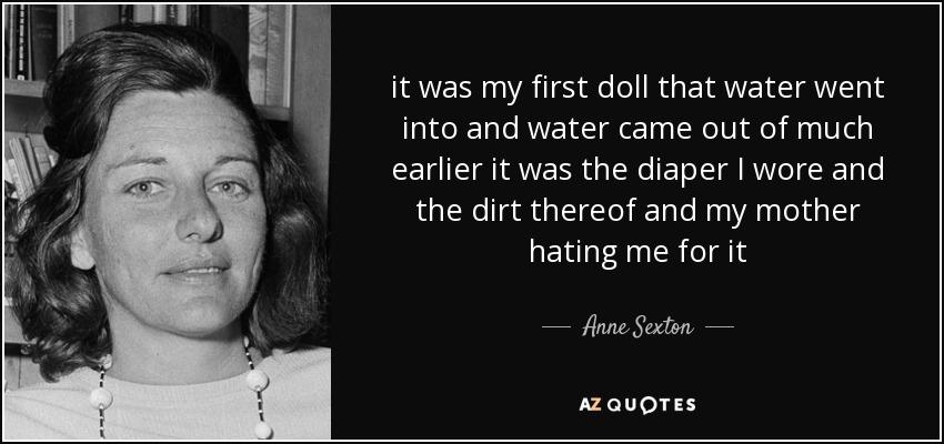 Anne Sexton water