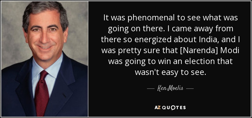 Ken Moelis quote: It was phenomenal to see what was going on there