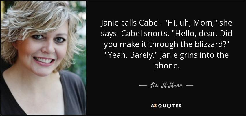 Janie calls Cabel.