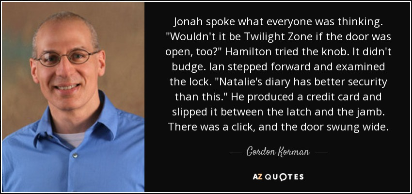 Jonah spoke what everyone was thinking.