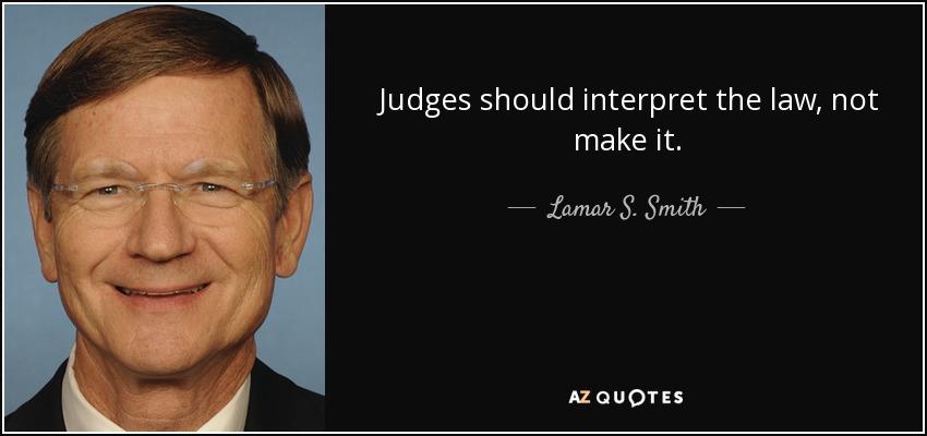 should the interpretation of law be