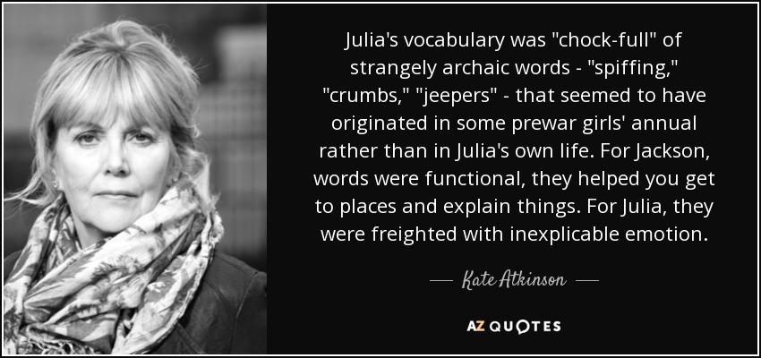 Julia's vocabulary was