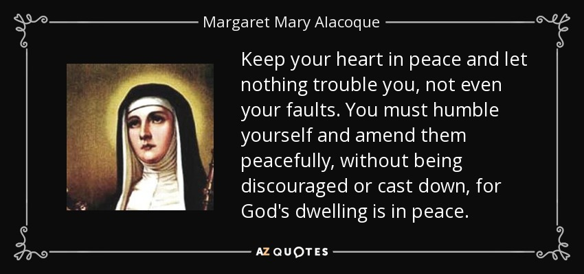 Image result for pictures and quotes of st. margaret mary alacoque