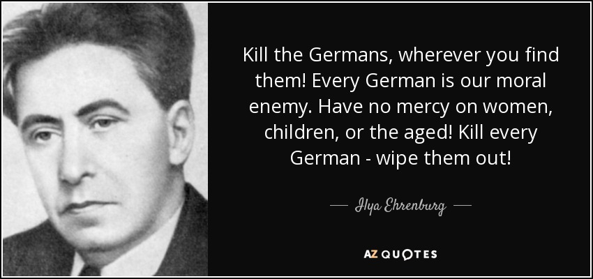 Image result for Ilya Ehrenburg  Germany must kill book