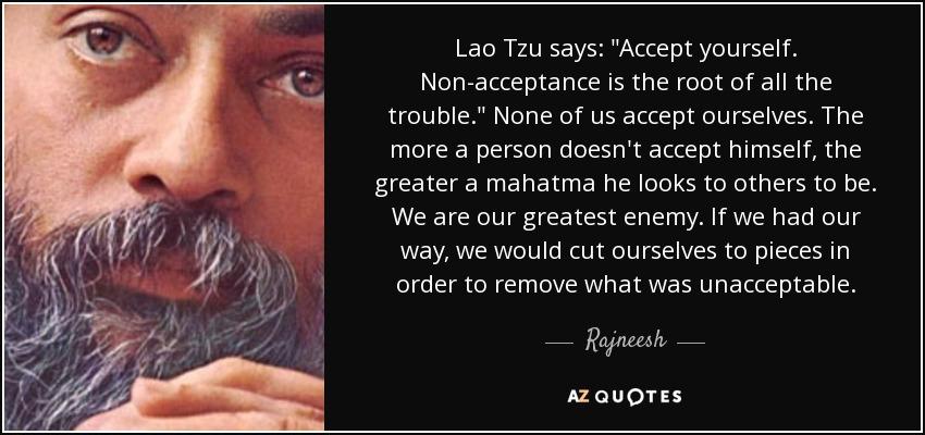 Lao Tzu says: