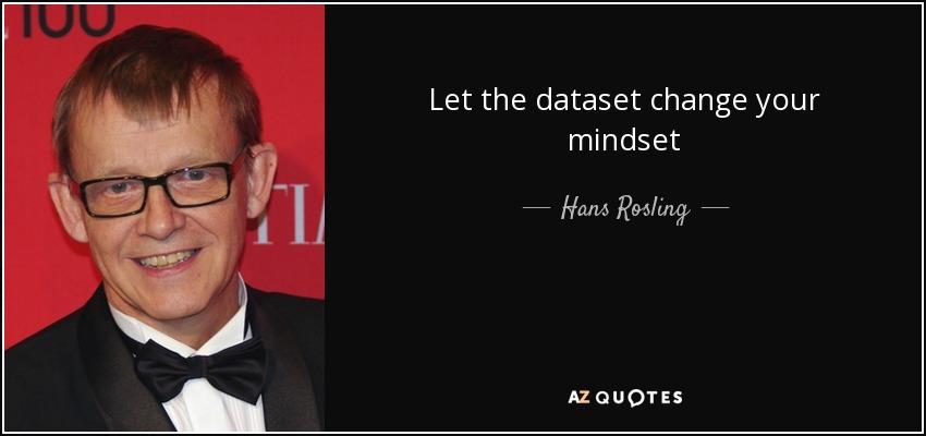 Let the dataset change your mindset - Hans Rosling