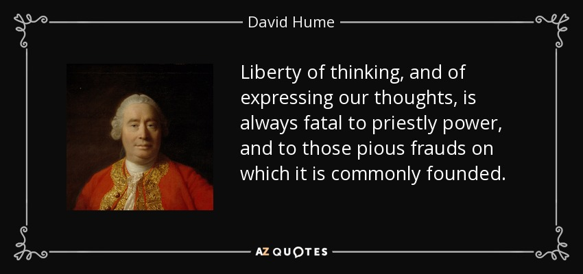 david hume and his thoughts essay