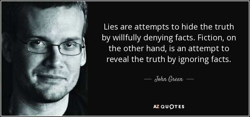 John Green Quote Lies Are Attempts To Hide The Truth By Willfully