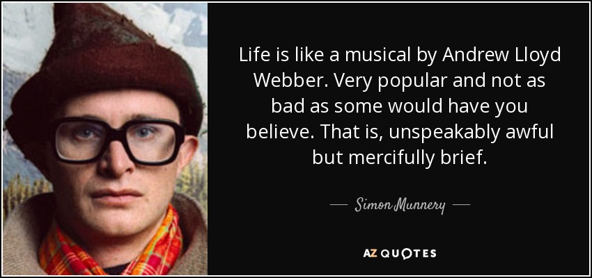 the life and musical career of andrew lloyd webber Unmasked at the paper mill playhouse extraordinary life and career a new title to the musical theater canon andrew lloyd webber is a legend and.