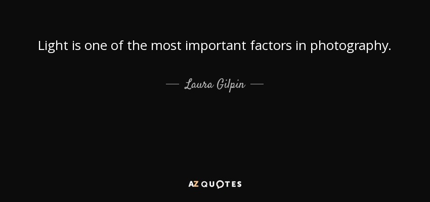 Light is one of the most important factors in photography. - Laura Gilpin