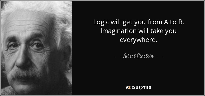 Albert Einstein quote Logic will get you from A to B Imagination Best Logic Quotes