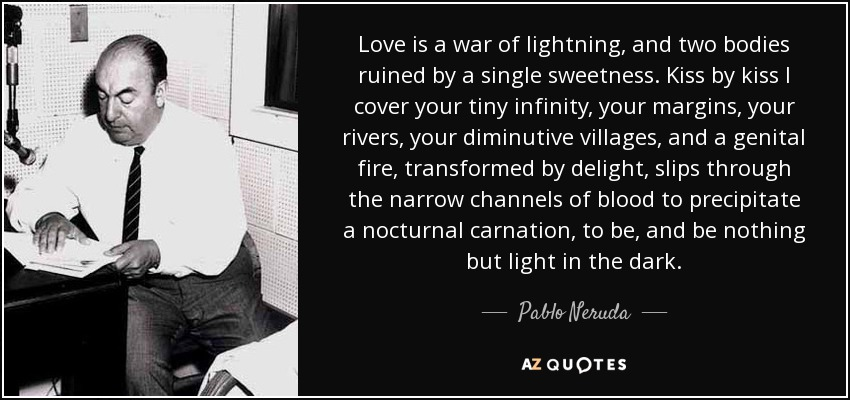 Lightning Love Quote Love is a War of Lightning