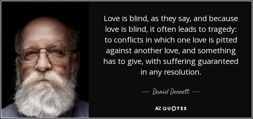 why do people say love is blind