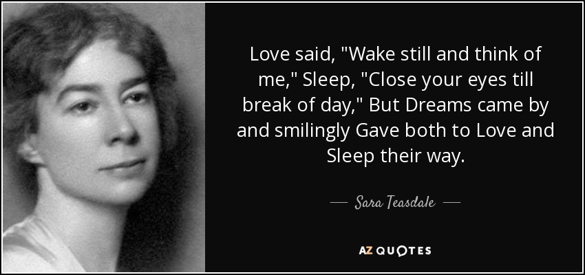 Love said,