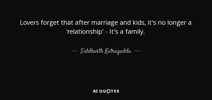Marriage relationship after How to