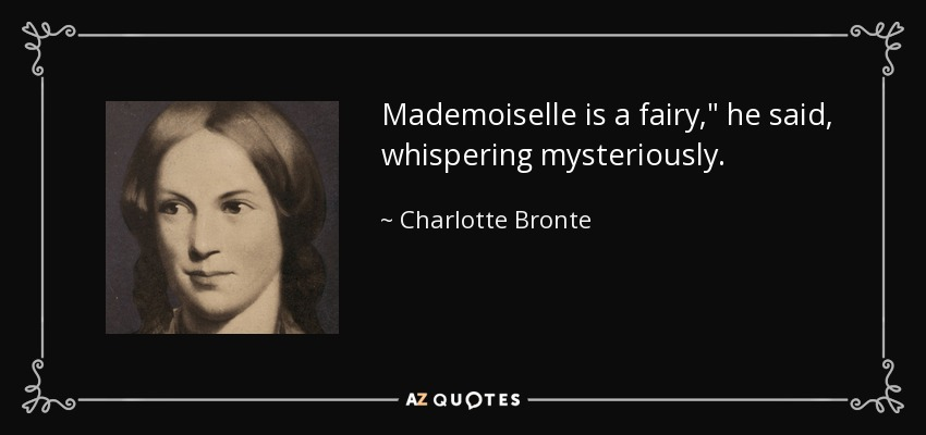 Mademoiselle is a fairy,