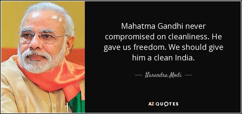 Narendra Modi quote: Mahatma Gandhi never compromised on