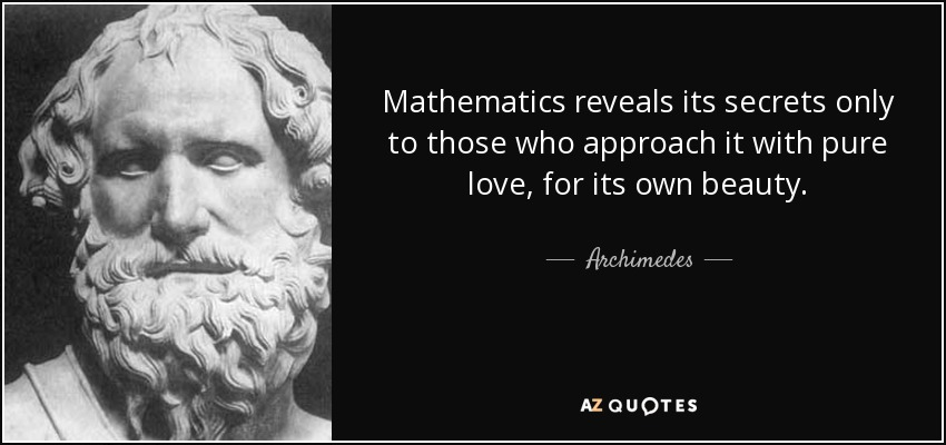 Beauty Of Math Quotes Sayings Postcard: TOP 25 QUOTES BY ARCHIMEDES