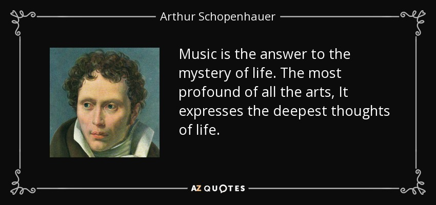 Soren Kierkegaard Quote There Is Something Almost Cruel: Arthur Schopenhauer Quote: Music Is The Answer To The