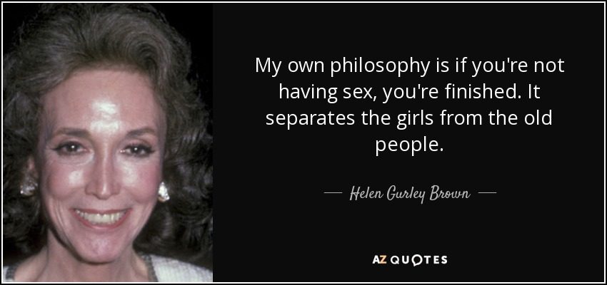 And philosophy Sex