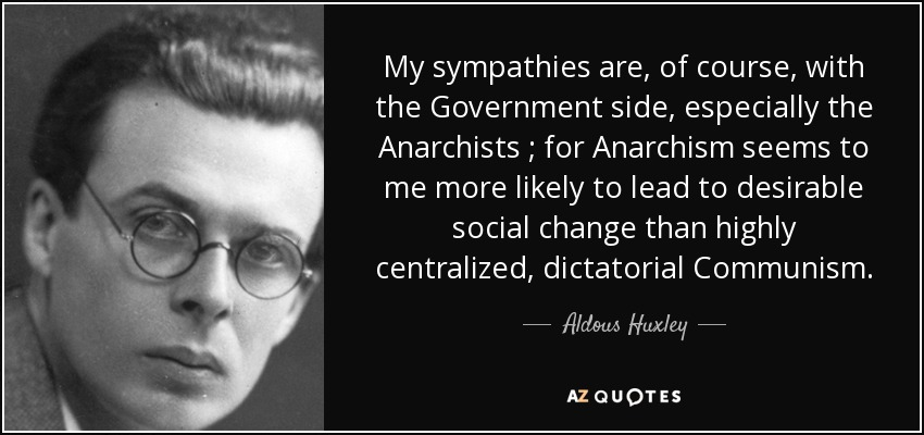 Aldous Huxley government