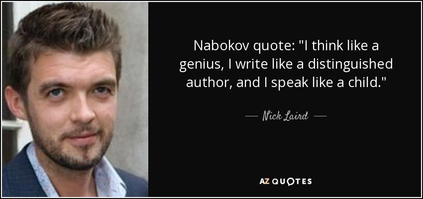 Nabokov quote: