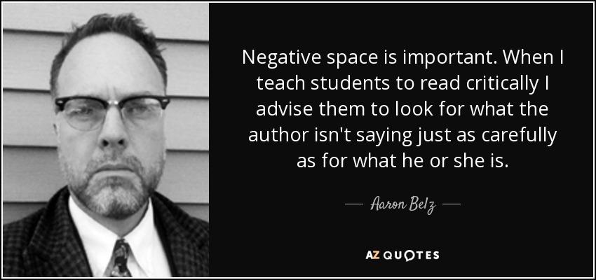 the authors decidedly negative essay