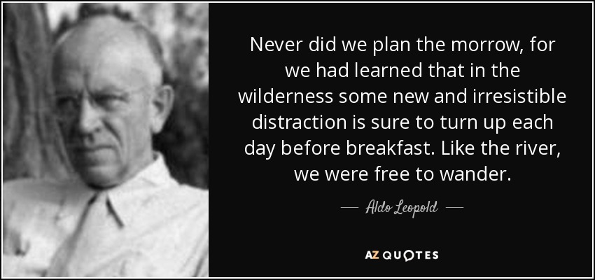 Aldo Leopold Quote Never Did We Plan The Morrow For We Had Learned