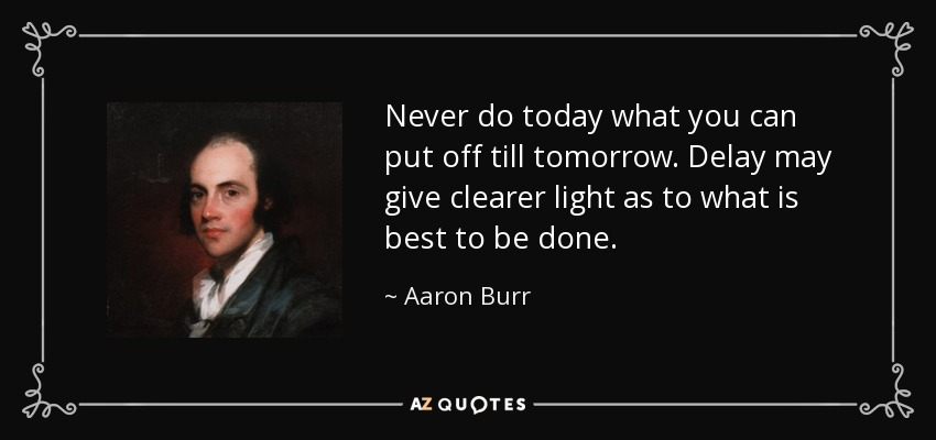 TOP 6 QUOTES BY AARON BURR | A-Z Quotes