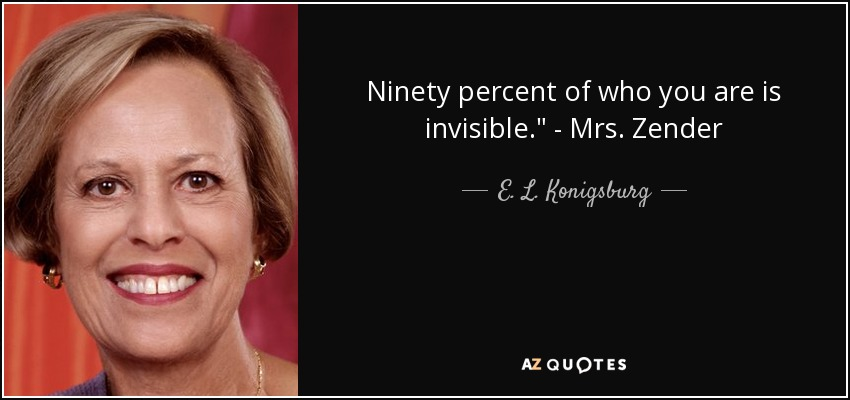 Ninety percent of who you are is invisible.