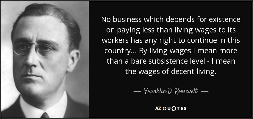 TOP 25 LIVING WAGE QUOTES (of 75) | A-Z Quotes