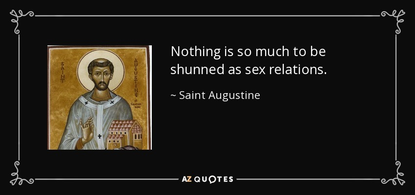 St augusine and sex