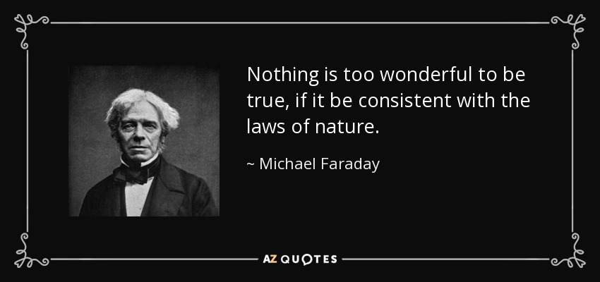 TOP 25 QUOTES BY MICHAEL FARADAY Of 69